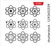 atom icon set vector  symbol...   Shutterstock .eps vector #1192652539