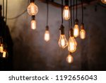 many different vintage light... | Shutterstock . vector #1192656043