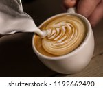 close up hand of barista making ... | Shutterstock . vector #1192662490
