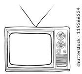 hand drawn retro tv vector | Shutterstock .eps vector #119266324
