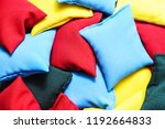 colorful kinetic pillows with...   Shutterstock . vector #1192664833