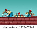construction team laying a... | Shutterstock .eps vector #1192667149