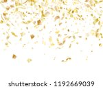 gold glitter confetti flying on ... | Shutterstock .eps vector #1192669039