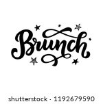 brunch calligraphy vector logo... | Shutterstock .eps vector #1192679590