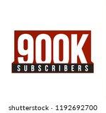 subscribers number vector icon. ... | Shutterstock .eps vector #1192692700
