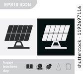 solar panel flat black and... | Shutterstock .eps vector #1192697116