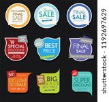 modern sale banners and labels... | Shutterstock .eps vector #1192697629