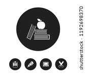 set of 5 editable school icons. ...