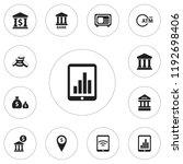 set of 12 editable banking... | Shutterstock . vector #1192698406