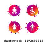 wc toilet icons. human male or... | Shutterstock .eps vector #1192699813