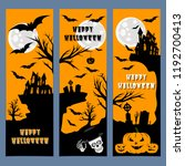 halloween banners leaflets... | Shutterstock .eps vector #1192700413