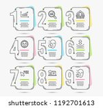 infographic template with... | Shutterstock .eps vector #1192701613