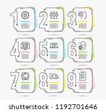 infographic template with... | Shutterstock .eps vector #1192701646