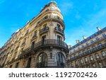 the typical facades of parisian ...   Shutterstock . vector #1192702426
