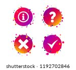 information icons. delete and... | Shutterstock .eps vector #1192702846