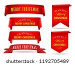 vector  red merry christmas... | Shutterstock .eps vector #1192705489