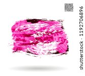 pink  brush stroke and texture. ... | Shutterstock .eps vector #1192706896