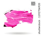 pink  brush stroke and texture. ... | Shutterstock .eps vector #1192706920