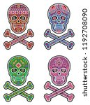 holy death  day of the dead ... | Shutterstock .eps vector #1192708090