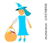 halloween witch illustration... | Shutterstock .eps vector #1192708930