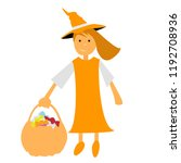 halloween witch illustration... | Shutterstock .eps vector #1192708936