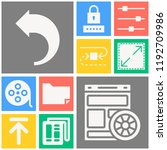 simple set of  10 filled icons... | Shutterstock .eps vector #1192709986