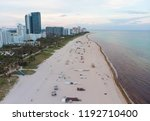 miami beach at the sunset | Shutterstock . vector #1192710400
