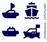 simple set of 4 icons related... | Shutterstock .eps vector #1192712383