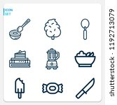 simple set of  9 outline icons... | Shutterstock .eps vector #1192713079