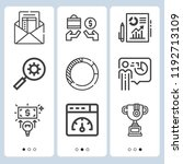 simple set of  9 outline icons... | Shutterstock .eps vector #1192713109