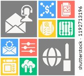 simple set of  10 filled icons... | Shutterstock .eps vector #1192713196