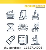 simple set of  9 outline icons... | Shutterstock .eps vector #1192714003