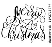 merry christmas lettering on a... | Shutterstock . vector #1192715779