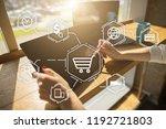 e commerce. internet shopping.... | Shutterstock . vector #1192721803