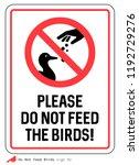 \'please Do Not Feed The Birds\'...