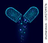 opened drug capsule medicine... | Shutterstock .eps vector #1192729576