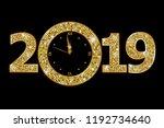 happy new year 2019  | Shutterstock .eps vector #1192734640
