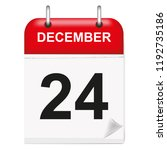 daily single leaf calendar  red ... | Shutterstock .eps vector #1192735186