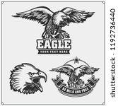 eagle heraldry coat of arms.... | Shutterstock .eps vector #1192736440