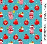 seamless pattern with cartton... | Shutterstock .eps vector #1192737109