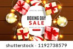 web banner for boxing day sale. ... | Shutterstock .eps vector #1192738579