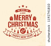 we wish you a very merry... | Shutterstock .eps vector #1192741810