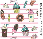 Sweet Seamless Pattern. Donuts...