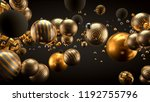beautiful background with balls.... | Shutterstock . vector #1192755796