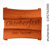 wooden pub signboard with... | Shutterstock .eps vector #1192762000