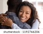 portrait of black beautiful... | Shutterstock . vector #1192766206