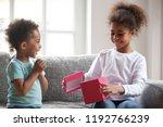 black african attractive little ... | Shutterstock . vector #1192766239