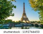 paris eiffel tower  france | Shutterstock . vector #1192766653