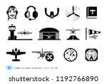 light private aviation icons... | Shutterstock .eps vector #1192766890