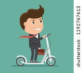 business man riding electric... | Shutterstock .eps vector #1192767613